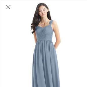 Azazie Zapheira in Dusty Blue (bridesmaid dress)